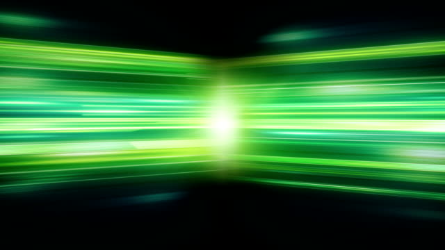 Green glowing stripes loopable technology background video