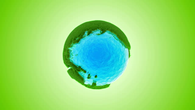 green grass earth with water - global warming video