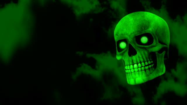Green Halloween Skull video