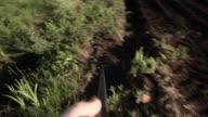 HD - Green Helmet Under Rifle Sight video