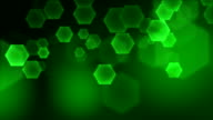 Green hexagons loop. HD. video