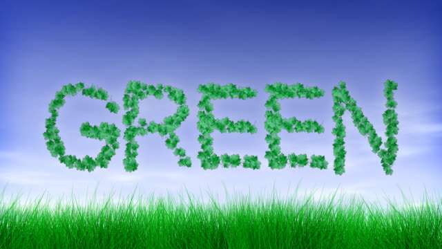 Green Leaf Text video