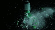 SLO MO green light bulb explosion video