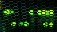 Green lights on network server video