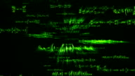 Green Maths Equations Flying Through Loopable full HD video