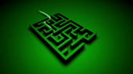 3D HD Green Maze animation depicting success video