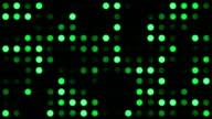 Green Monotone Coloured Dots Background video