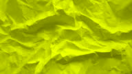 Green paper texture wrinkled video