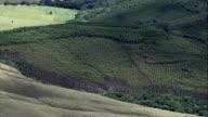 Green Rural Landscape - Aerial View - Minas Gerais, São João del Rei, Brazil video