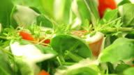 green salad close up video