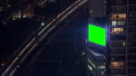 Green screen billboard near train station video