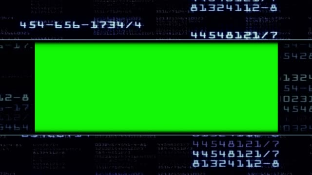 Green Screen Monitor and Numbers Gate, Loop video