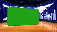 Green Screen Monitor in Business Room video