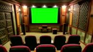 Green screen movie theater video
