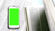 green screen of smart phone video
