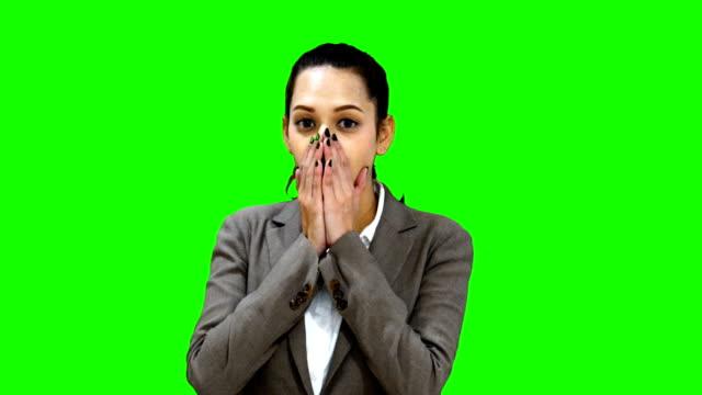 Green Screen Shocking girl video