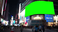 Green Screen Times square New York City Chroma Key video