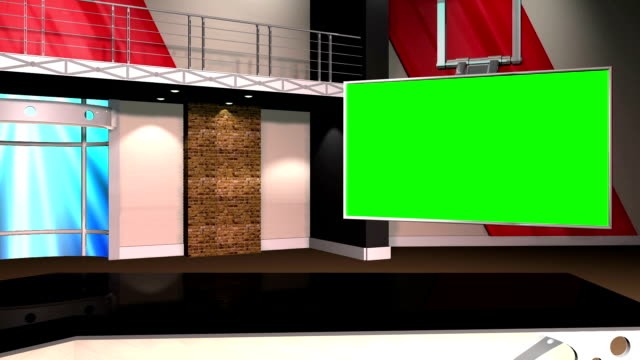 Green Screen Virtual News Set Chroma Key Background video