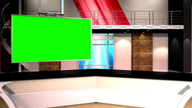 Green Screen Virtual News Studio 12 2 Anchor Shot video