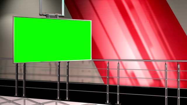 Green Screen Virtual News Studio 12 Template - Balcony Shot video