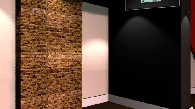 Green Screen Virtual News Studio 12 Template - Brick Shot video