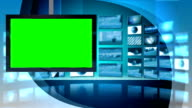Green Screen Virtual News Studio Template video