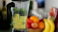 Green Smoothie Blending Slow Motion video