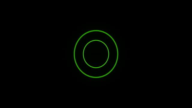 Green Sonar Circle Loop with Matte video