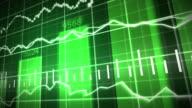 Green Stock Market Graph and Bar Chart video