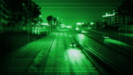 Green Target security Camera Freeway surveillance video