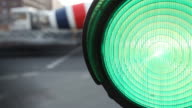 green traffic light - time lapse video