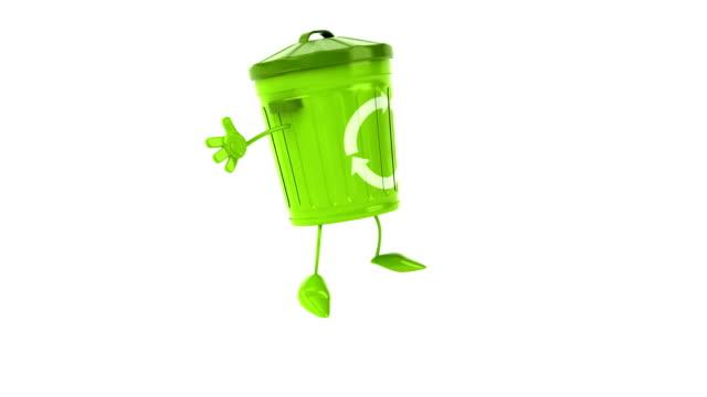 Green trash jumping video