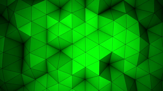 Green triangle polygons background loopable video