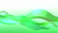 Green wave motion background, loopable. video