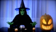 green witch, Halloween video