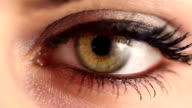 Green Woman Eye Extreme Close Up video