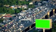 Greenscreen Billboard By Busy Highway video