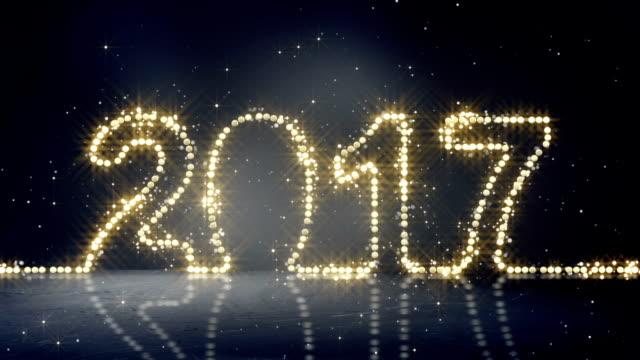 2017 greeting christmas lights loopable video