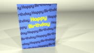 Greetings Card Happy Birthday HD video