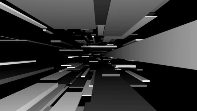 Grey Blocks Tunnel Loop | Abstract Futuristic Animation video