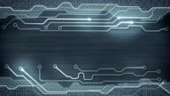 grey circuit board loopable background video