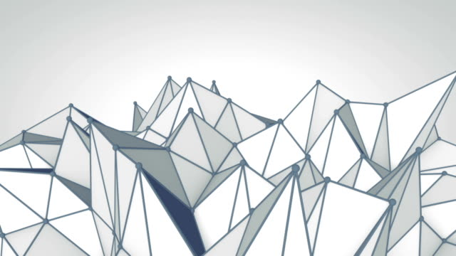 Grey polygonal 3D surface. Futuristic loopable animation. video