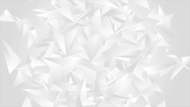 Grey polygonal shapes abstract tech video animation video
