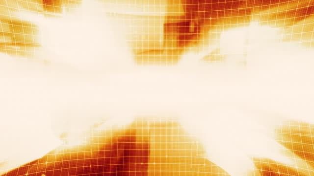 Grid Technology Orange Background video