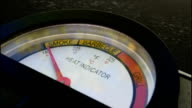 BBQ grill gauge, from cold to hot. video