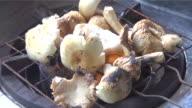 grill mushroom video