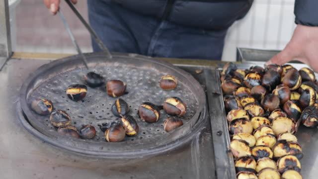 Grilled Chestnuts in Eminonu, Istanbul, Turkey video