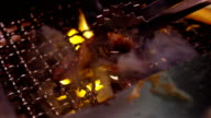 Grilled Freshness Japanese Meat BBQ (slowmotion). video