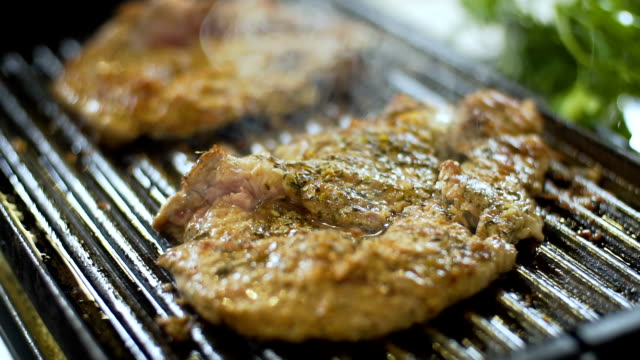Grilled Meat Ready To Eat, slo mo video