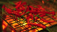 Grilled red chili video